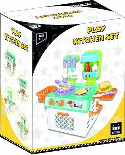 Think Gizmos Play Kitchen Set Kids Tg704 Fun Toys Girls Boys Aged