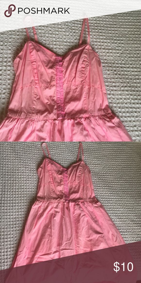Pink Spring Dress Bustier top and cinched waist. Very flattering! Hits right above the knee. Band of Gypsies Dresses Mini