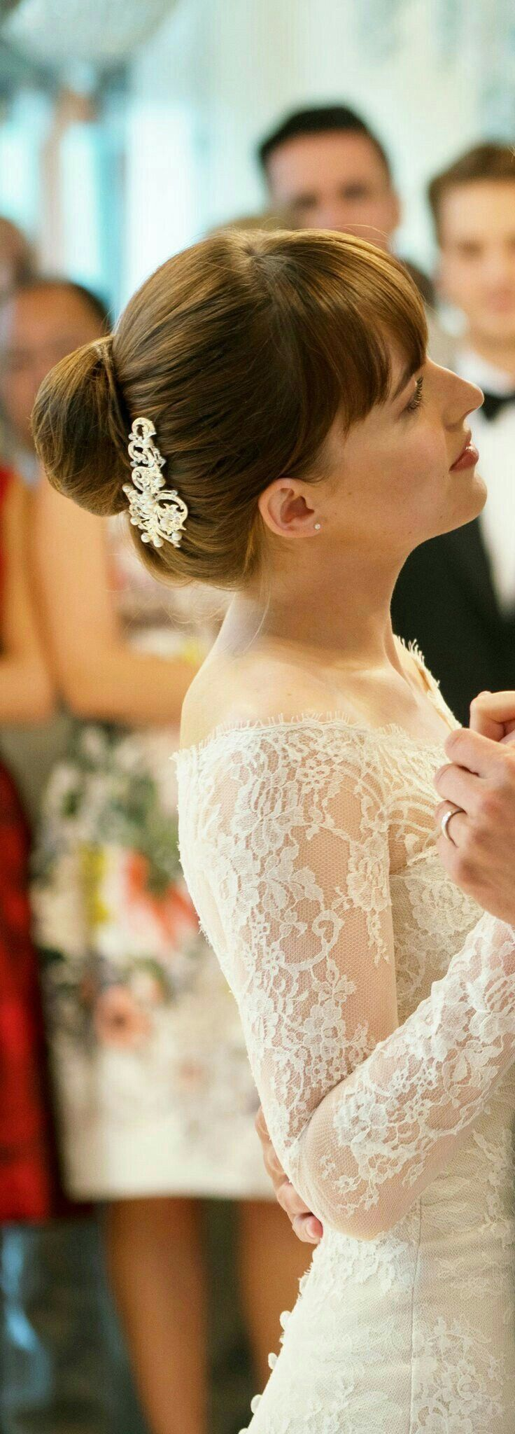 Ana And Christian S Wedding 50 Shades Freed Wedding Hairstyles Bride Hairstyles [ 2048 x 736 Pixel ]