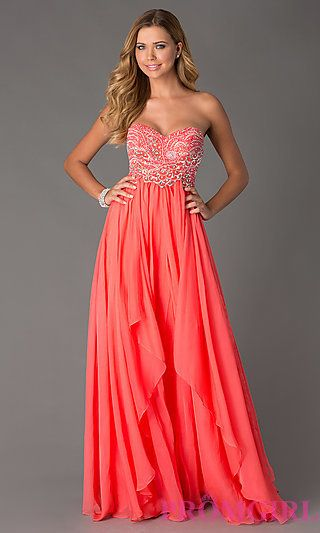 Strapless Evening Gown by Sherri Hill 3874 at PromGirl.com