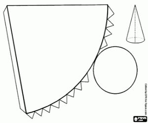 malvorlagen Kegel mit kreisförmige Grundfläche ausmalbilder