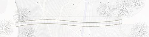 Sofiero Footridge. Pedestrian bridge by Sofiero Castle. Helsingborg, Sweden. 2015-. Invited competition: 2015, 1st prize. In progress. Length, total: 57 m. Width: 2.5 m. Client: The City of Helsingborg. Architect: DISSING+WEITLING architecture. Engineer: Schlaich Bergermann und Partner. Landscape: Becht aps. Renderings: DISSING+WEITLING architecture