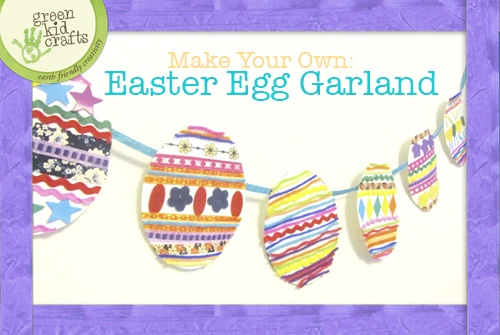 Make your own Easter Egg Garland out of Recycled Paper
