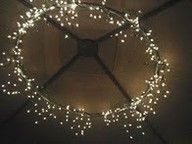 Chandelier from a hula hoop!