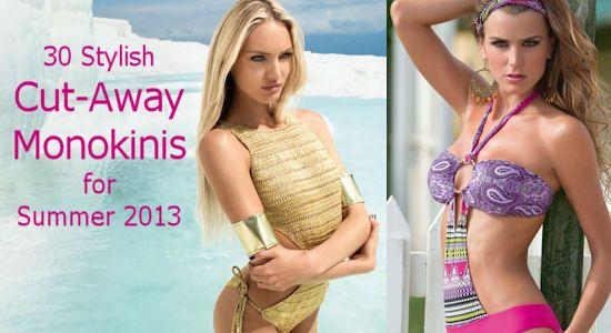 30 Stylish Cutout Monokinis for Summer 2013