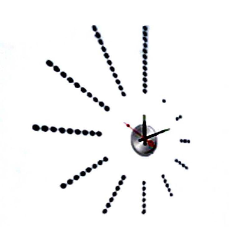 Ένα μοντέρνο ρολόι τοίχου, σε σχέδιο μίνιμαλ με κουκκίδες αριθμούς. Tοποθετήστε το στο σπίτι και προσθέστε μια ευχάριστη  διακοσμητική νότα. απότελείται από κομμάτια αυτοκόλλητου βινυλίου, με κουκκίδες που τοποθετείτε εσείς για αριθμους. Το ρολόι τοίχου Α