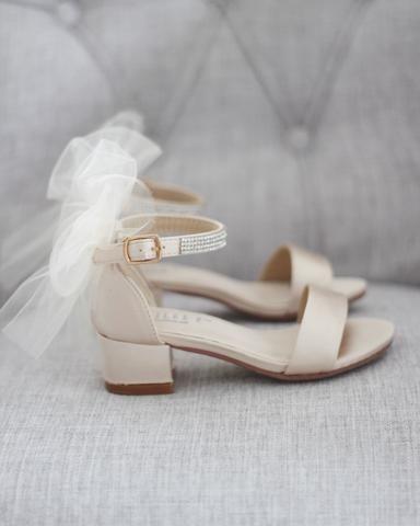 3de6de8c5d54 Women Wedding Sandals - NATURAL T-Strap Pearl Sandals With Rhinestones  Embellishments – Kailee P