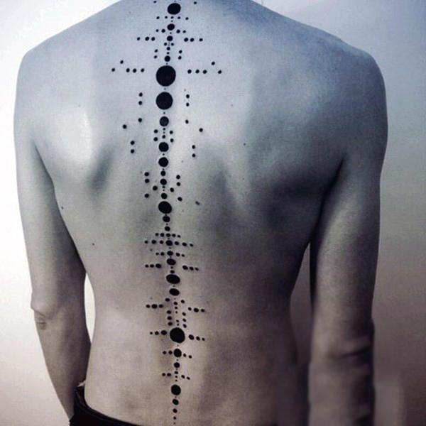 75 Wirbelsäule Tattoos für Männer – Masculine Ink Design-Ideen