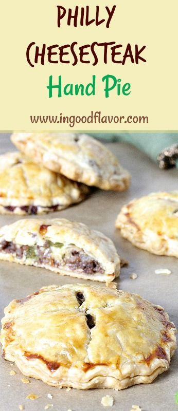 PHILLY CHEESESTEAK HAND PIES | Hand pies, Easy pie recipes ...