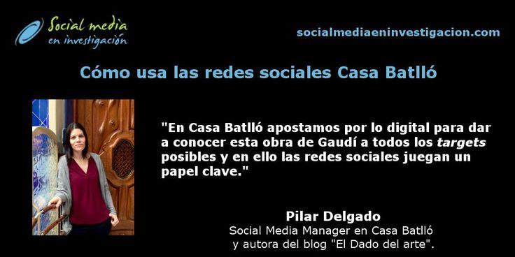 Pilar Delgado nos cuenta cómo usan las redes sociales en Casa Batlló. #RedesSociales #Museos #CasaBatlló