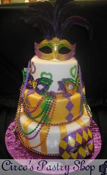 mardi gras cake | ... Fondant Wedding Cakes, Pastries and Cookies | Mardi Gras Fondant Cake