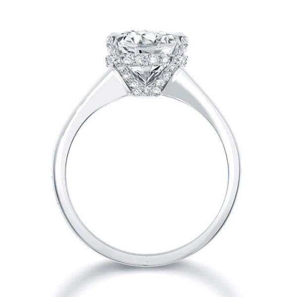 aafa71ff16c61 Italo Classic Created White Sapphire Engagement Ring   maybe ...