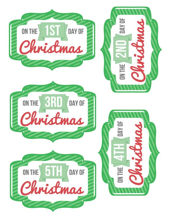 Make your Twelve Days of Christmas gift giving easier with these printable tags.