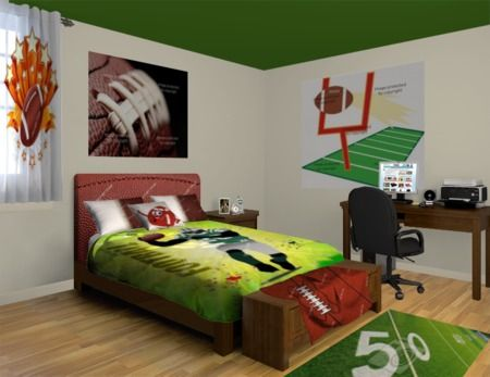 Football Rugs Bring The Game Into The Bedroom See Our Football Designs At Http