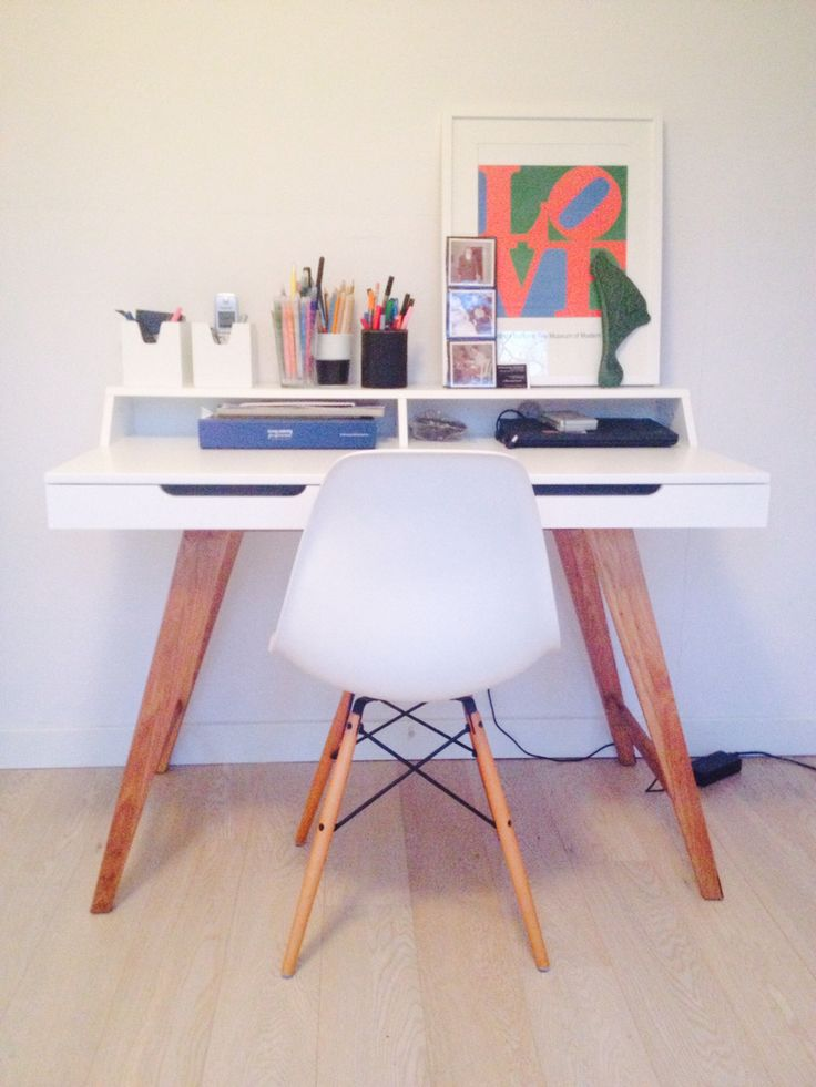 Working station. New desk and My favorit eames chair