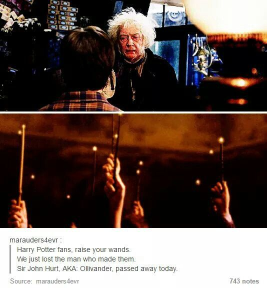 I know I'm pinning that late yet still. R.I.P. John Hurt