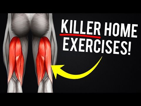 At Home Hamstring Workout Video - Hamstring Exercises with No Equipment - YouTube