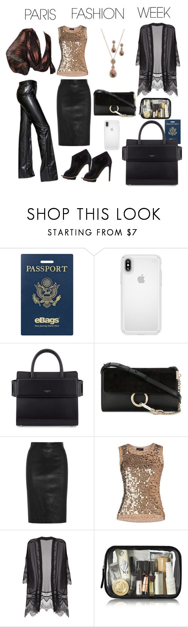 """""""Day or Evening"""" by leaff88 ❤ liked on Polyvore featuring eBags, Speck, Givenchy, Chloé, Lush Clothing, parisfashionweek and Packandgo"""
