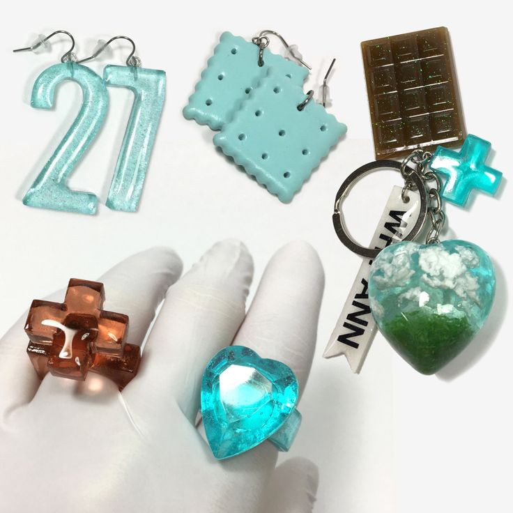 Heaven & Earth Cookie Box Resin Jewelry Set / WhyAnnMade
