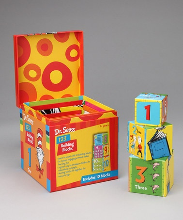 Take a look at this Dr. Seuss 123 Building Block Set by Silver Dolphin Books on #zulily today!