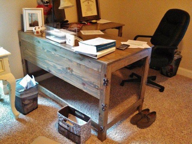 Wood Desks For Home Office Repurposed Wood Innovative Ideas Rustic