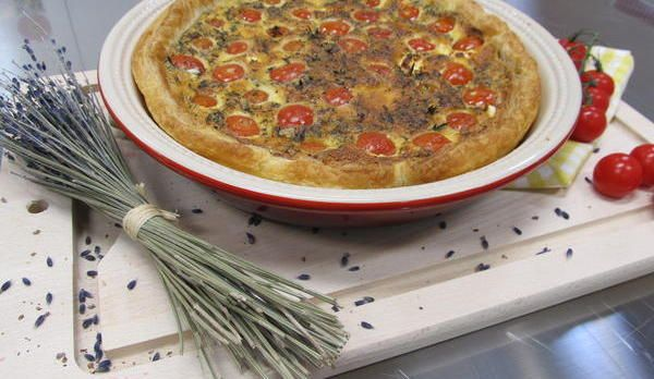 Tomaten-Ziegenkäse-Quiche