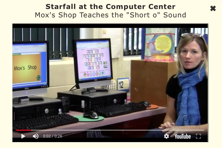 INSTRUCTION - The website Starfall is a great resource for phonics instruction as it allows students to practice reading the specific letter-sound relationships they are working on. An effective phonics program must not only teach the letter sound but give students time to put their knowledge to use (PRF p. 15). This website is also very engaging for children and contains interactive activities that correct mistakes that students are making as they are playing various phonics related games.