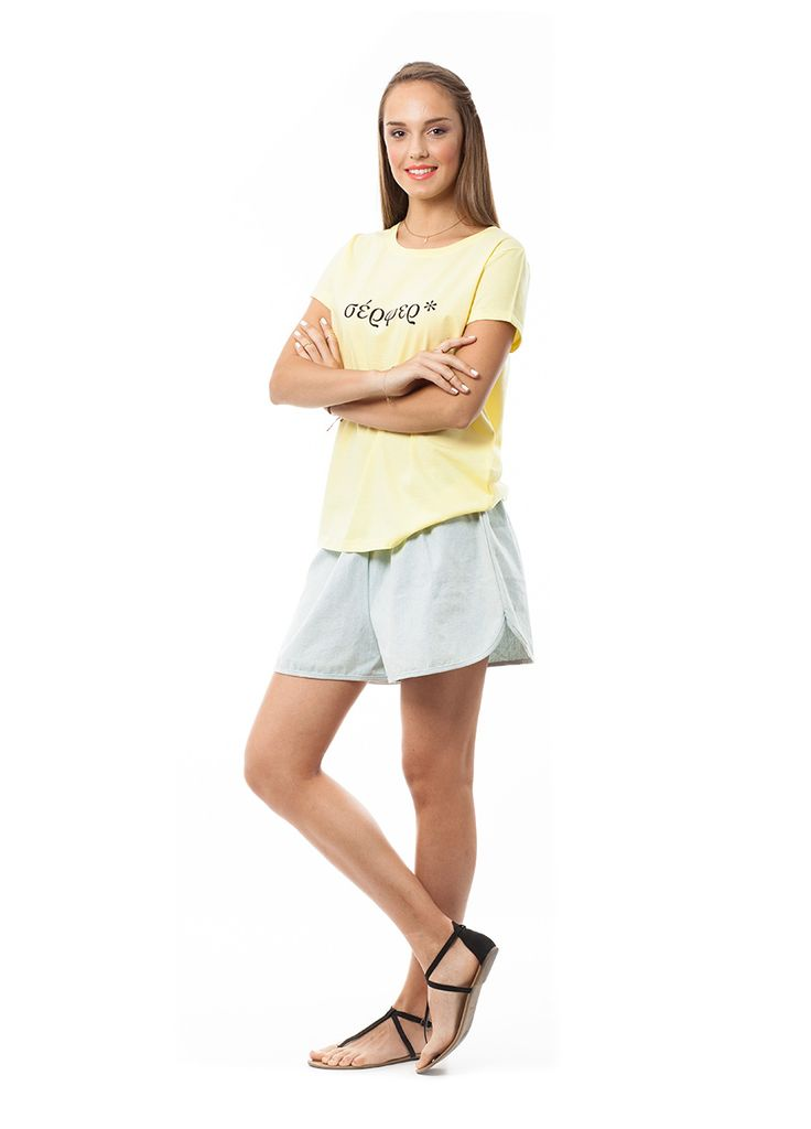 T-shirts made in Greece! English words written in Greek! σέρφερ* (surfer) t-shirt!