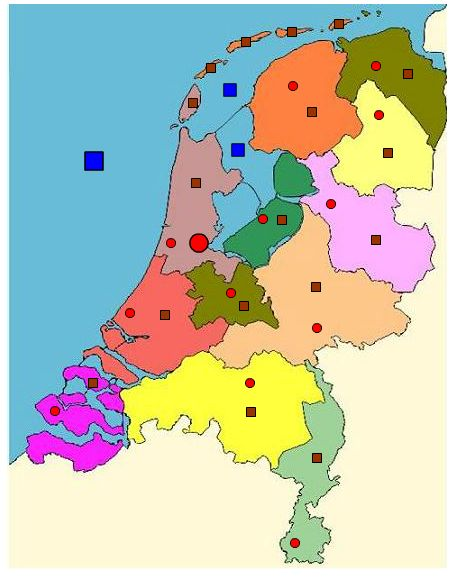 Nederlandse provincies en steden
