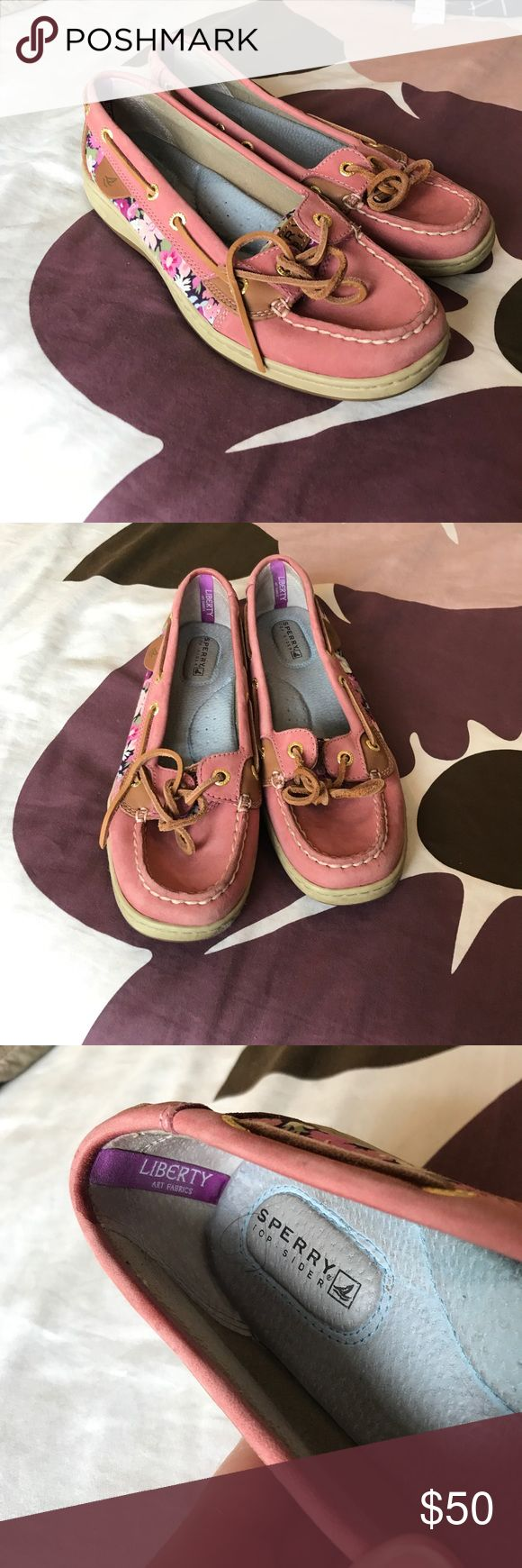 *️⃣*️⃣*️⃣ SPERRY Cute pink sperry boat shoes. Very gently used Sperry Top-Sider Shoes Espadrilles