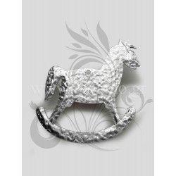 Μεταλλικό διακοσμητικό αλογάκι, καρουζέλ από σφυρήλατο φύλλο αλουμινίου