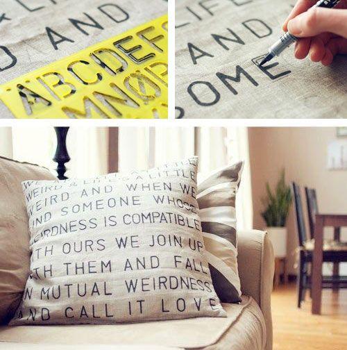 Cuscino personalizzato vintage
