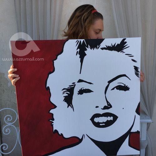 Trittico Hollywood ritratti Pop Art di Marilyn Monroe Liz...