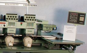 Used 1992 Tajima TME-HC912 commercial embroidery machine - ID#1288, 12 Heads, 9 Needles www.TheEmbroideryWarehouse.com