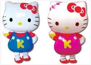 Привет китти прогулки pet Гелиевые шары День Рождения декорации для вечеринок Надувные игрушки подарки для детей, 64X43 СМ фольги воздушные шары