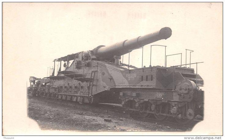 """Equipment - ¤¤ - Carte-Photo Militaire - Canon sur un Train """" A.L.G.P. 32.7 - P.3034 """" - Matériel , Wagon , Chemin de Fer -"""