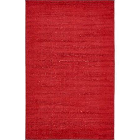 Unique Loom Tribeca Solid Rug, Red