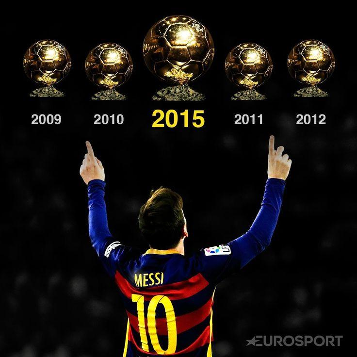 3 more Ronaldo Messi has 5