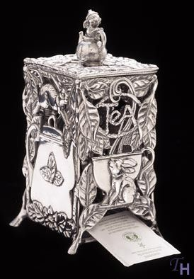 Arthur Court Designs Bunny Tea Bag Dispenser