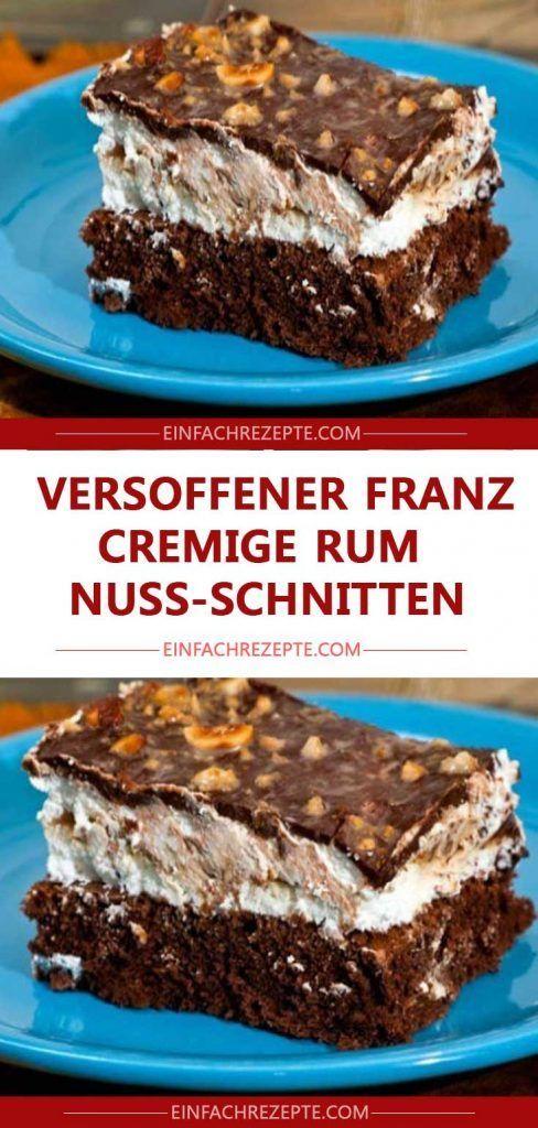 Versoffener Franz – cremige Rum-Nuss-Schnitten 😍 😍 😍