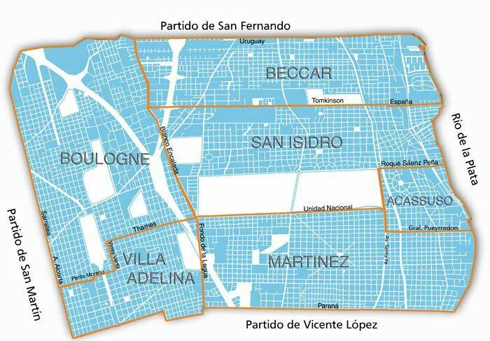 Mapa de San Isidro . Mapa de San Isidro con todas sus localidades