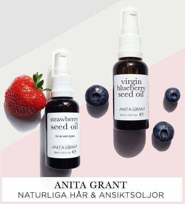 Anita grants kallpressade oljor är oerhört populära. Speciellt deras senaste tillskott blåbär som rosacea hyer älskar. Använd som de är eller boosta en befintlig produkt du använder 👌 #serum #ansiktsolja #veganhudvård #naturlighudvård