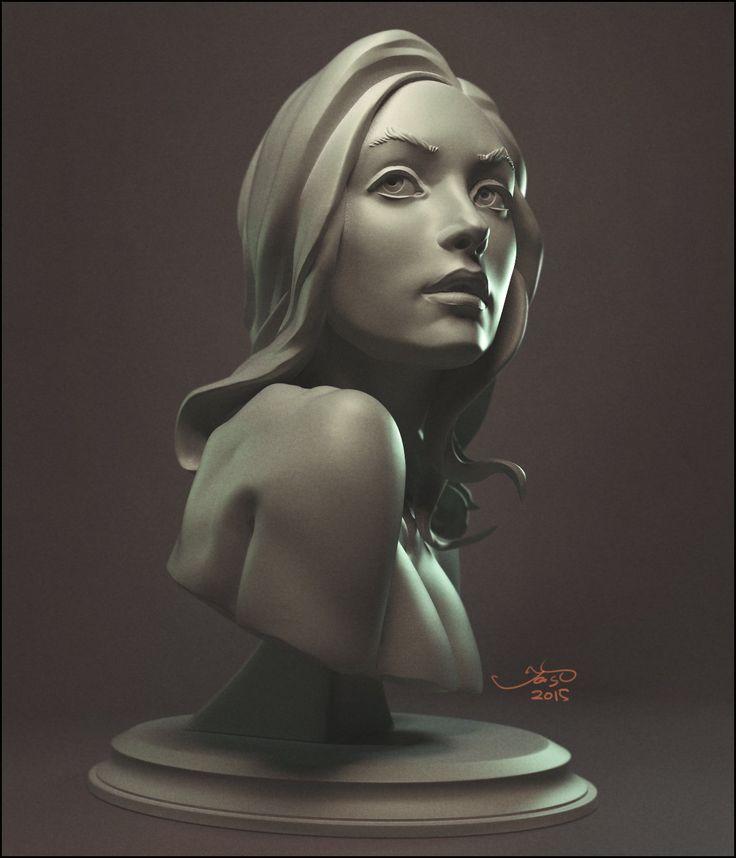 ArtStation - skech girl, Sergey Katcykov