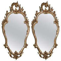 Pair of Decorative Rococo Style Mirrors