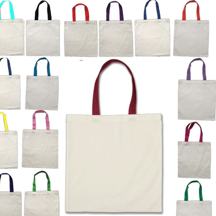 Wholesale Tote Bags With Color Handles 100% Cotton