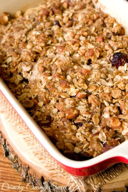 Apple Cranberry Crisp Recipe~T~ A wonderful Autumn and Winter dessert. Calls for dried cranberries but can use fresh when you can get them.