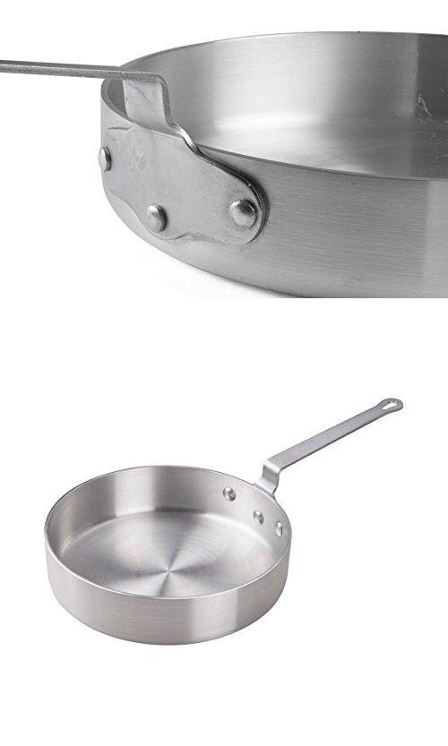 FortheChef's Reinforced Commercial-Grade 3 Qt. Aluminum Saute Pan