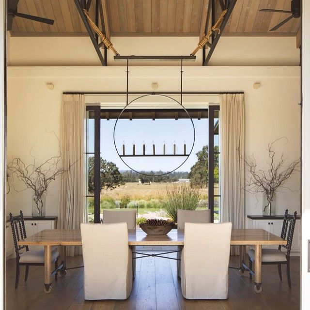 Same dining room different angle...indoor outdoor living! New photo by Paul Dyer. Custom light fixture. Custom dining table by @statsky_design #jenniferrobininteriors #indooroutdoorliving #interiors #interiordesign #dining #diningroom #napastyle #napa #wadedesignarchitects