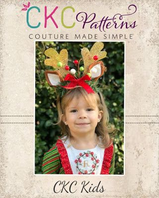 Create Kids Couture: 1st Day of Christmas: Rudolph's Reindeer Headband