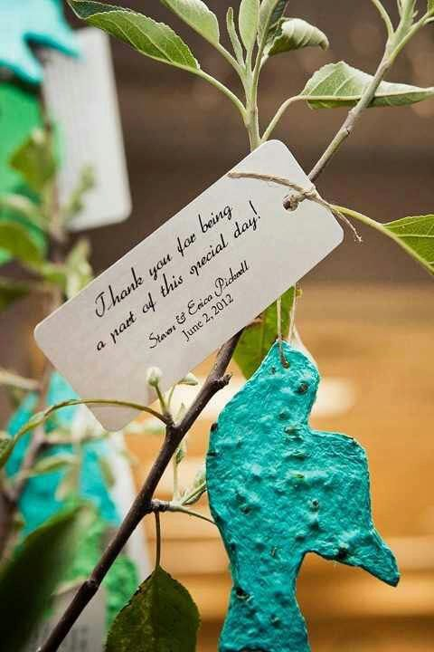 PDF TUTORIAL  - Make your own plantable paper Seed Bombs & seeded paper tags for DIY wedding favors and place cards. $15.00, via Etsy.